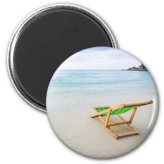 Beach 2 Inch Round Magnet