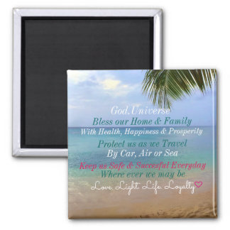 Beach | Magnet | Bless Our Home & Family