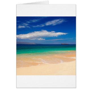 Beach Makena Maui Hawaii Card