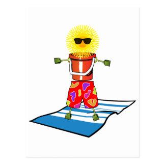 Beach Man Postcard