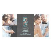 Beach Mason Jar Coastal Wedding Thank You Card