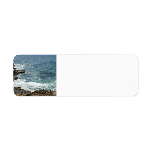 Beach Meets Ocean Return Address Label