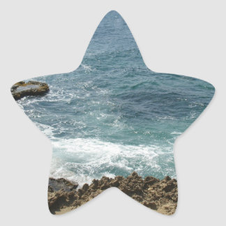 Beach Meets Ocean Star Sticker