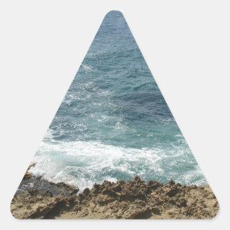 Beach Meets Ocean Triangle Sticker
