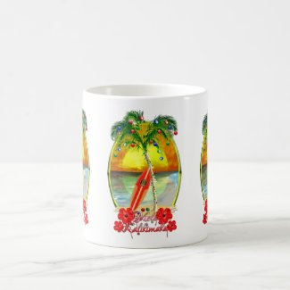 Beach Mele Kalikimaka Coffee Mug