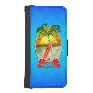 Beach Mele Kalikimaka iPhone SE/5/5s Wallet