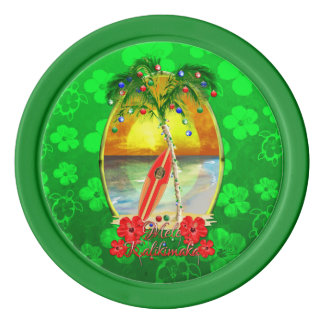 Beach Mele Kalikimaka Poker Chips