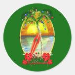 Beach Mele Kalikimaka Sticker