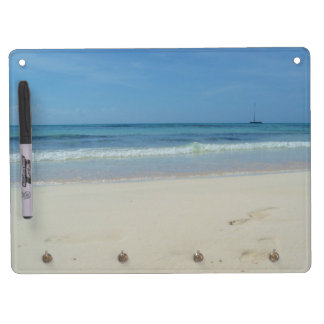 Beach - Memoboard Dry Erase Board With Keychain Holder