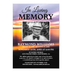 Beach Memorial Service | Celebration of Life Photo Invitation