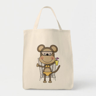 Beach Monkey Cool Drink T-shirts and Gifts Canvas Bag