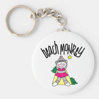 Beach Monkey Keychain