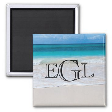 Beach Themed Beach Monogram Nautical Personalized Magnet