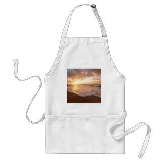 Beach Moorea Island Sunset French Polynesia Adult Apron