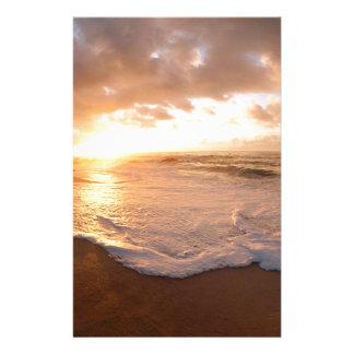 Beach Moorea Island Sunset French Polynesia Stationery