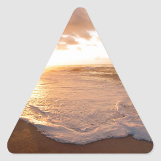 Beach Moorea Island Sunset French Polynesia Triangle Sticker