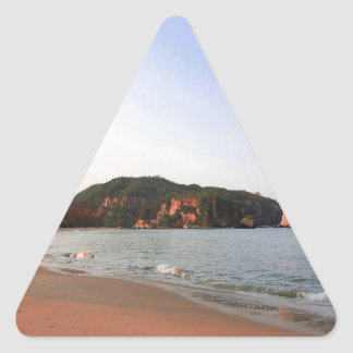 Beach Morning Awake Triangle Sticker