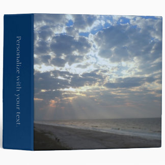 Beach Morning - Oak Island, NC 3 Ring Binders
