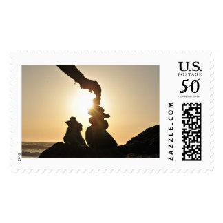 Beach motif postage stamp