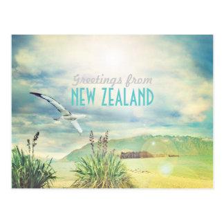 Beach mountain de Nueva Zelanda Postales