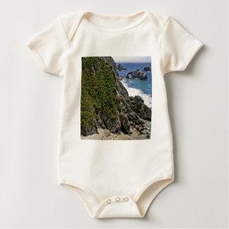 Beach Mountain Stronghold Baby Bodysuit