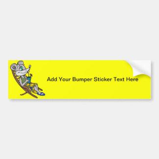 Beach Mouse Bumper Sticker