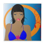 beach-music-girl.jpg azulejo cerámica