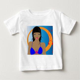 beach-music-girl.jpg baby T-Shirt