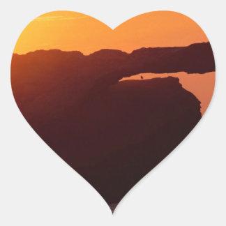 Beach Natural Bridges Santa Cruz Heart Sticker