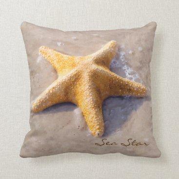 Beach Themed Beach Nature Starfish Sea Star Throw Pillow