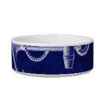 beach navy blue coastal chic nautical  anchor bowl