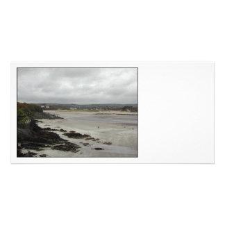 Beach near Rosscarbery Bay, Ireland. Personalized Photo Card