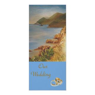 Beach near the mountain 4x9.25 paper invitation card