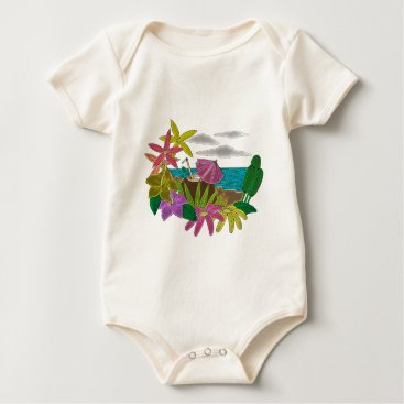Beach Themed Beach neon baby bodysuit