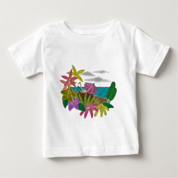 Beach Themed Beach neon baby T-Shirt