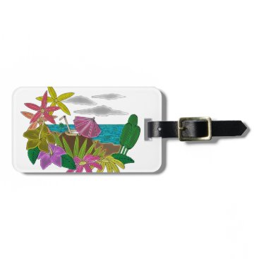 Beach Themed Beach neon bag tag