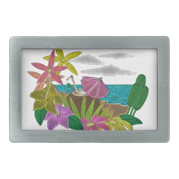 Beach Themed Beach neon belt buckle