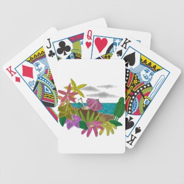 Beach Themed Beach neon bicycle playing cards
