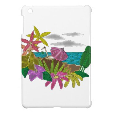 Beach Themed Beach neon cover for the iPad mini