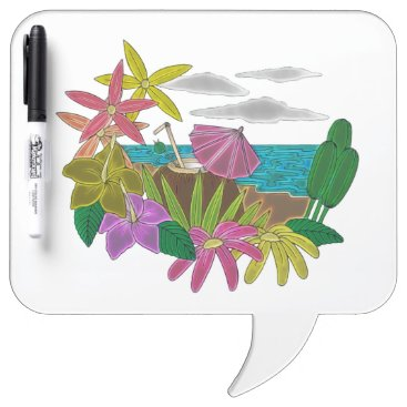 Beach Themed Beach neon Dry-Erase board