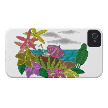 Beach Themed Beach neon iPhone 4 case
