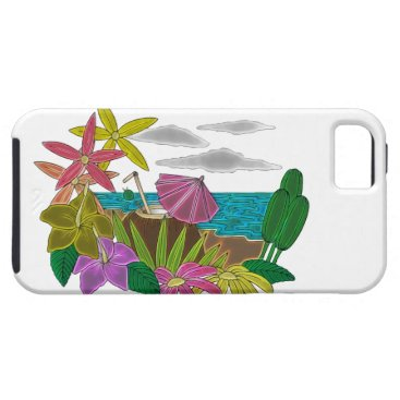 Beach Themed Beach neon iPhone SE/5/5s case