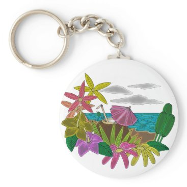 Beach Themed Beach neon keychain