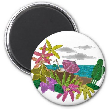 Beach Themed Beach neon magnet