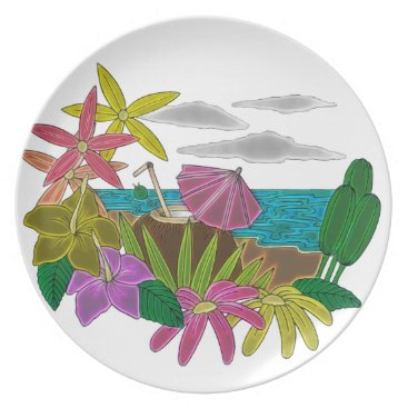 Beach Themed Beach neon plate