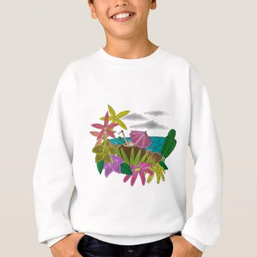Beach Themed Beach neon sweatshirt