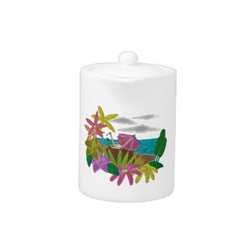 Beach Themed Beach neon teapot