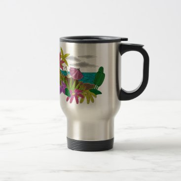 Beach Themed Beach neon travel mug