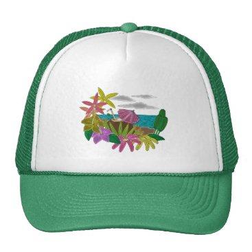 Beach Themed Beach neon trucker hat