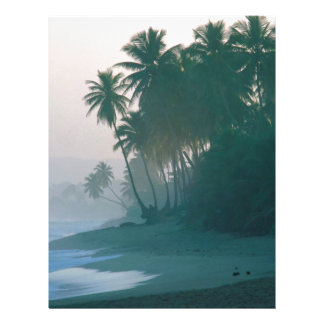 Beach New Light Misty Morn Puerto Rico Personalized Letterhead